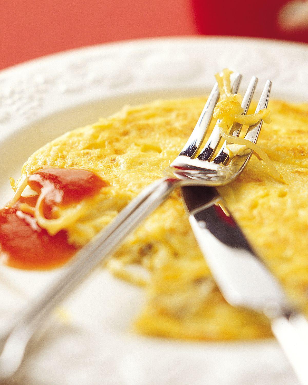 食譜:義大利麵蛋餅
