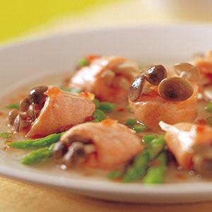 松菇鮭魚捲