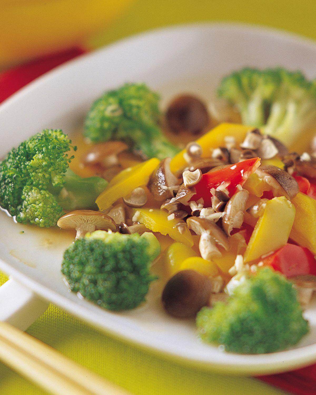 食譜:綠花紅葉