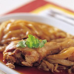 雞腿清燜高麗菜