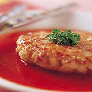 紅汁雞肉餅