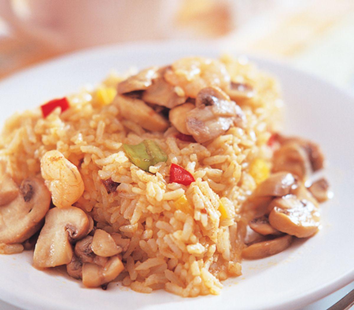 食譜:蘑菇拌飯