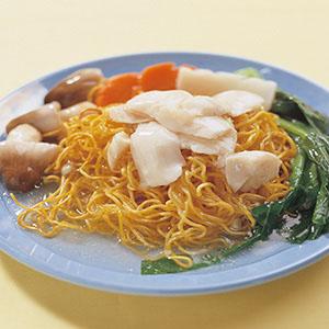 芥蘭魚片炒麵