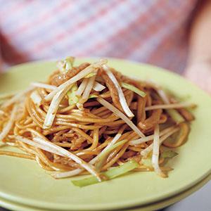 新加坡蝦醬肉絲炒麵