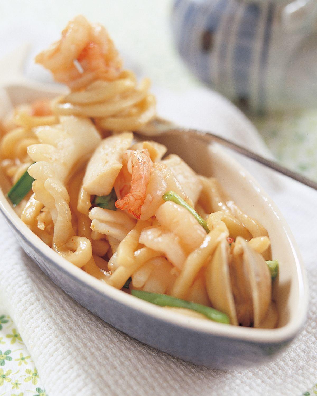 食譜:海鮮烏龍炒麵
