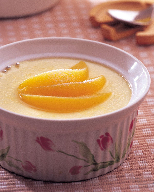 食譜:水蜜桃布丁
