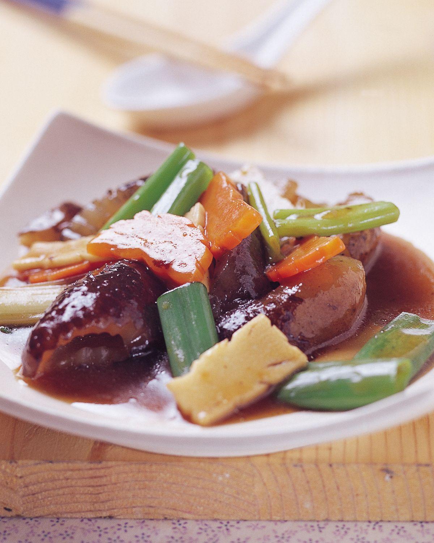 食譜:紅燒海蔘(1)