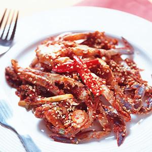 辣味生醃螃蟹