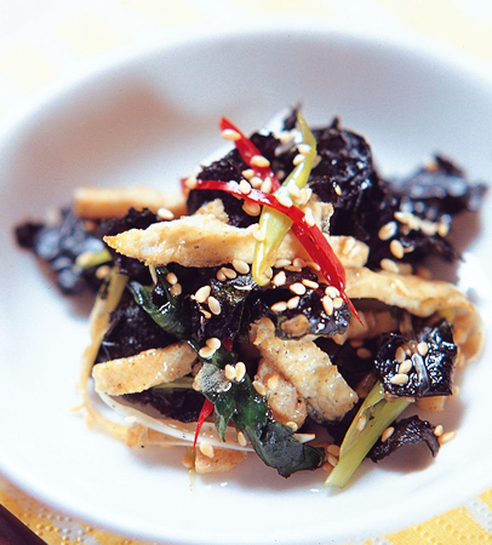 食譜:涼拌紫菜