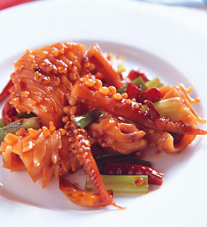 食譜:宮保魷魚