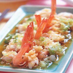 蒜泥蒸草蝦