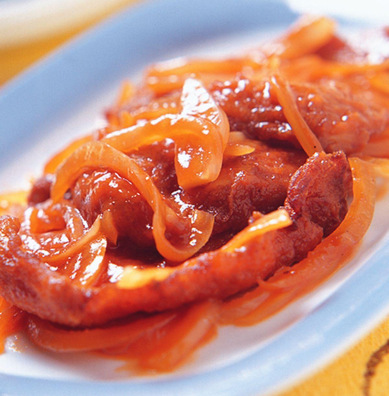 食譜:西汁燴豬扒