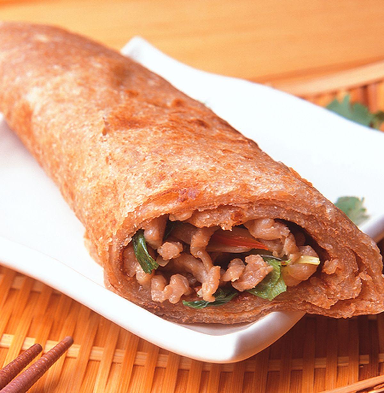 食譜:京醬肉絲捲餅