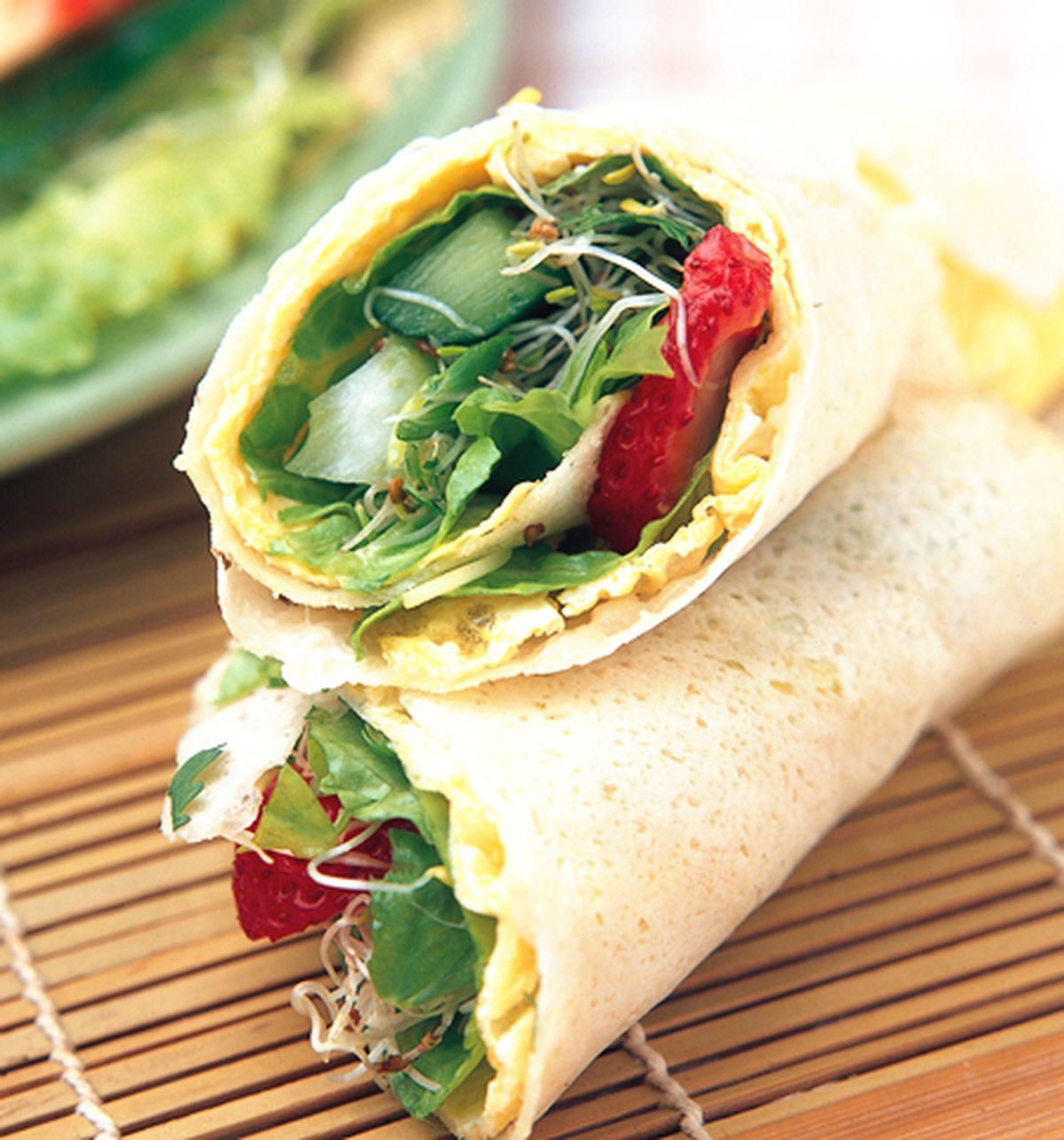 食譜:生菜捲