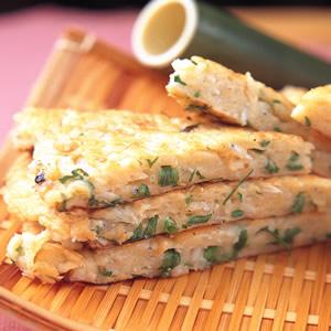 吻仔魚燜餅