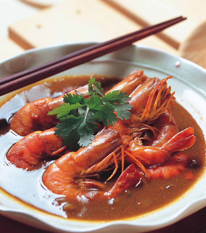 食譜:咖哩大蝦
