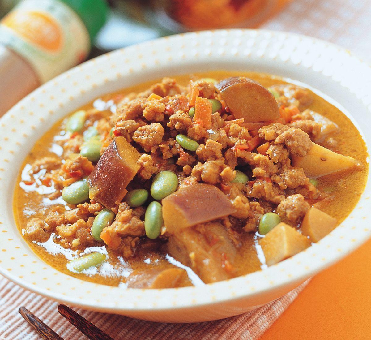 食譜:咖哩燉肉豆