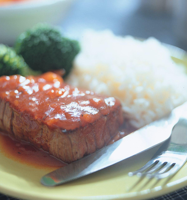 食譜:美式烤牛排飯