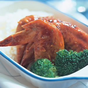香辣烤雞翅飯