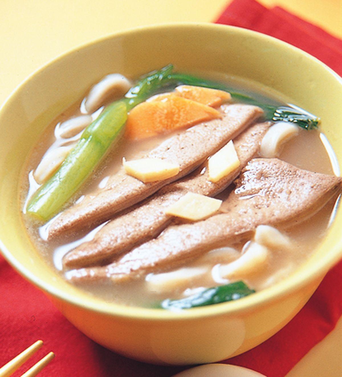 食譜:豬肝湯麵