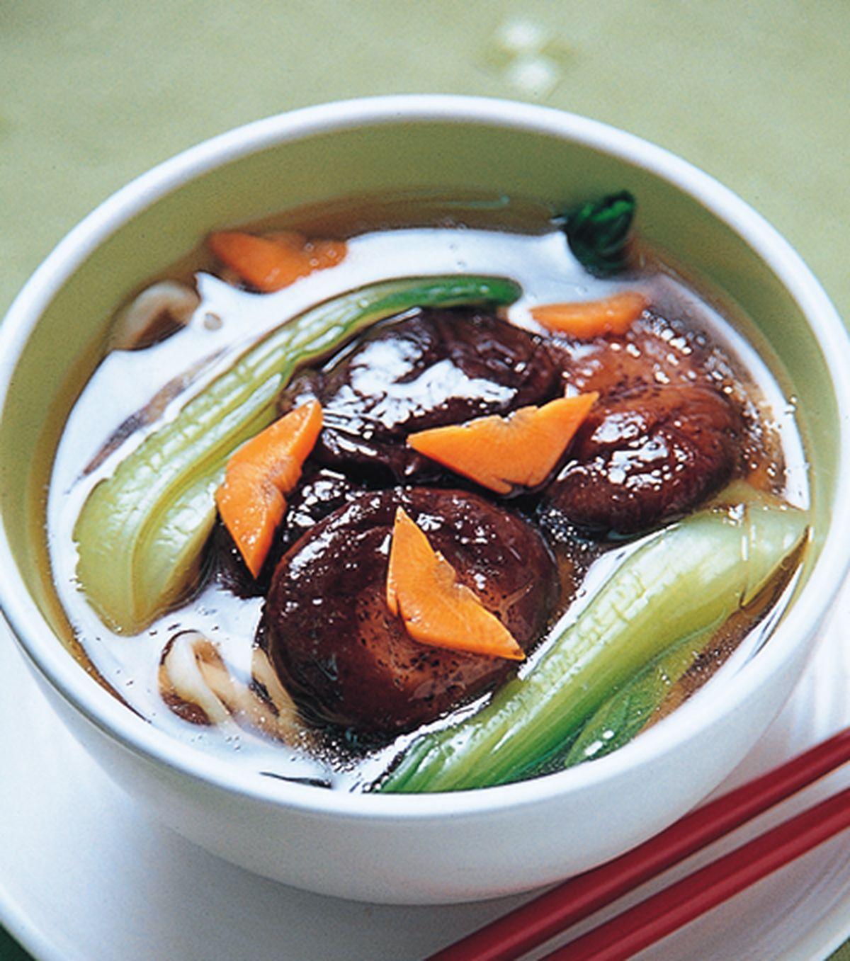 食譜:香菇湯麵