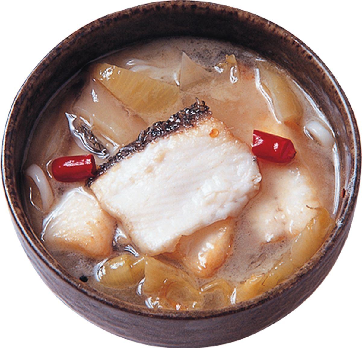 食譜:酸菜魚片湯麵