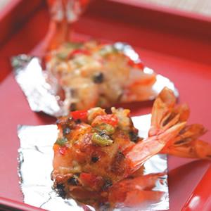 鮮蝦繽紛起士燒