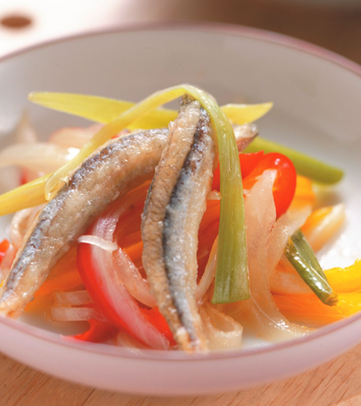 食譜:丁香魚南蠻漬(1)