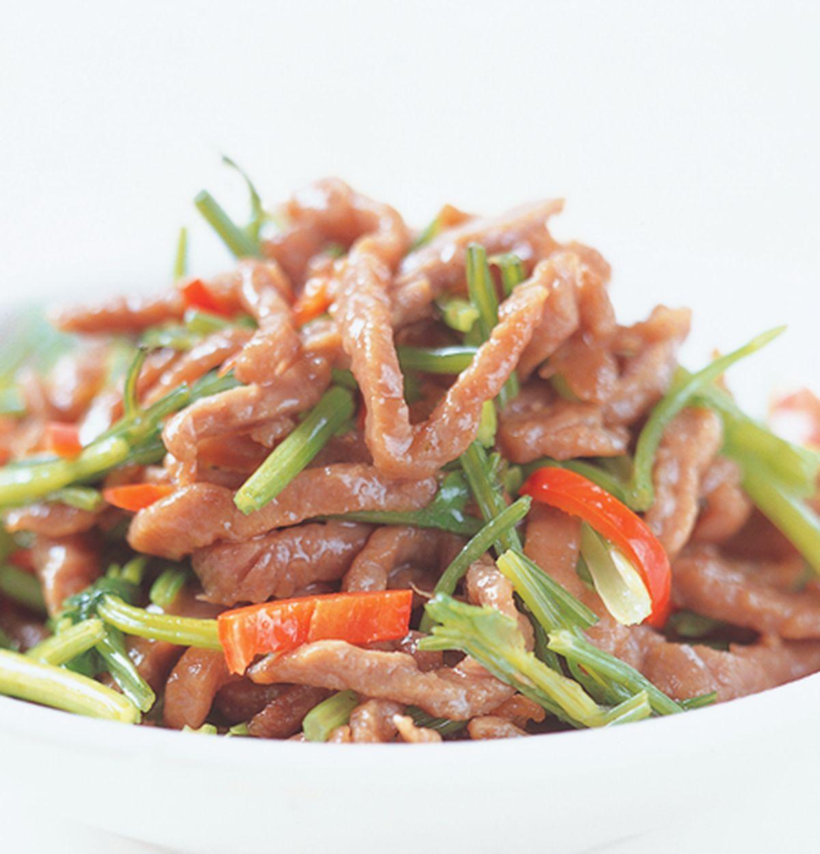 食譜:香根牛肉