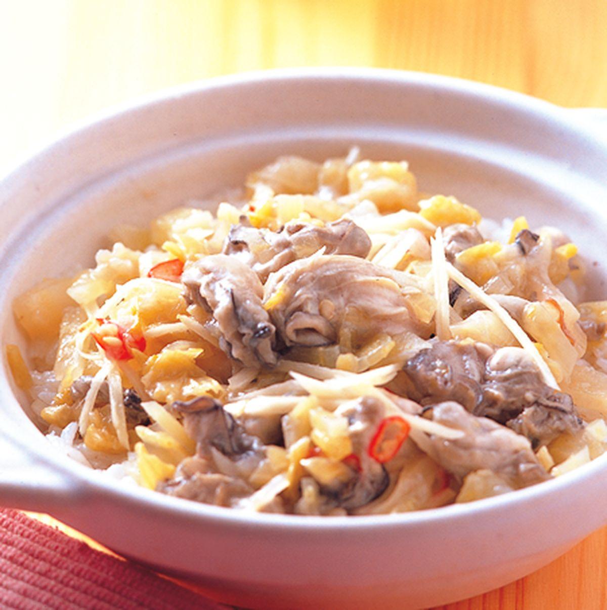 食譜:鹹菜蚵仔煲飯