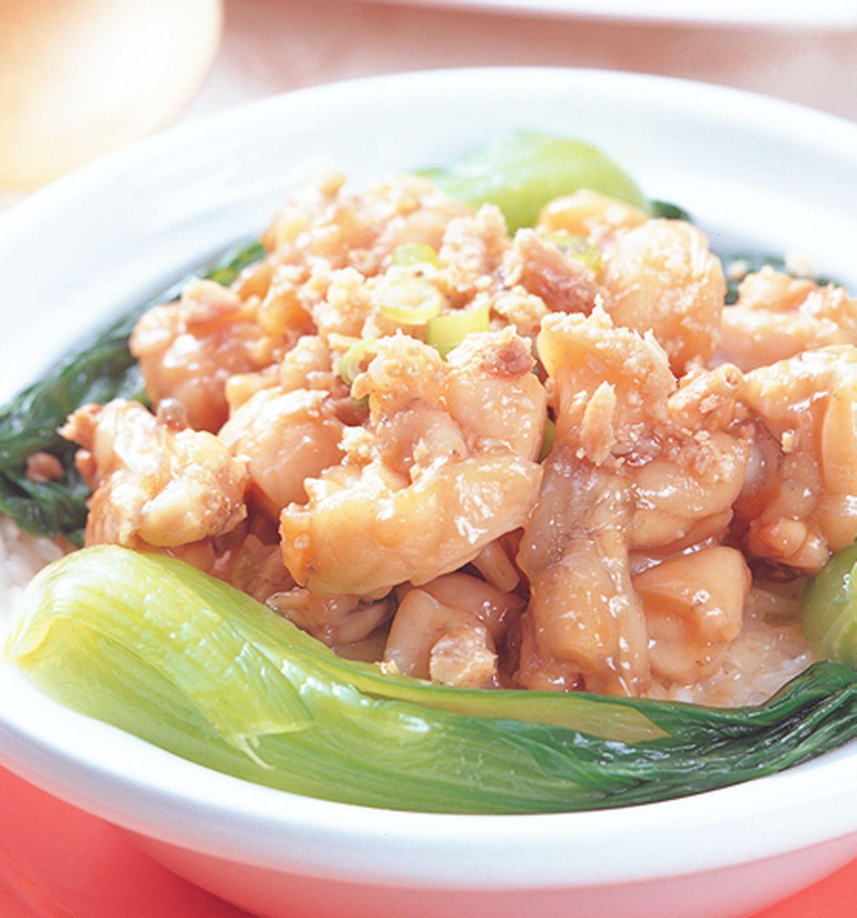 食譜:鹹魚田雞煲飯