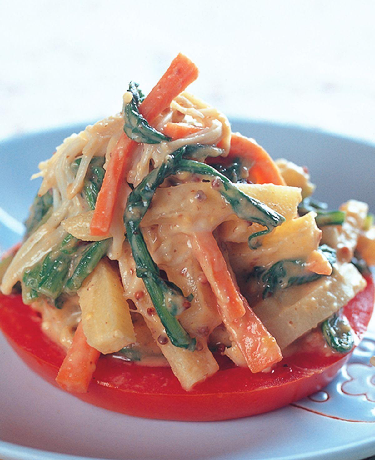 食譜:味噌淋醬拌時蔬