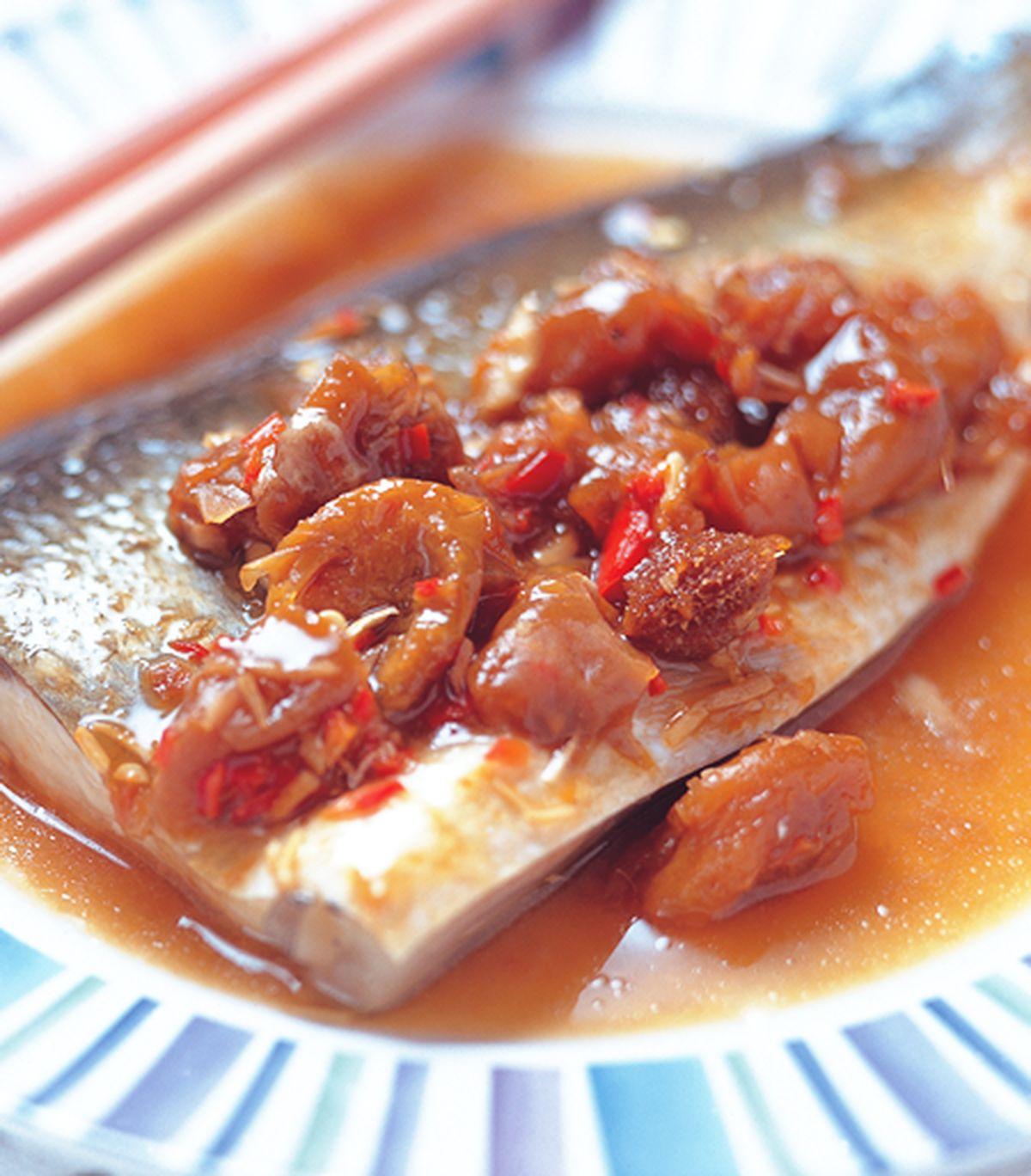 食譜:梅子蒸魚
