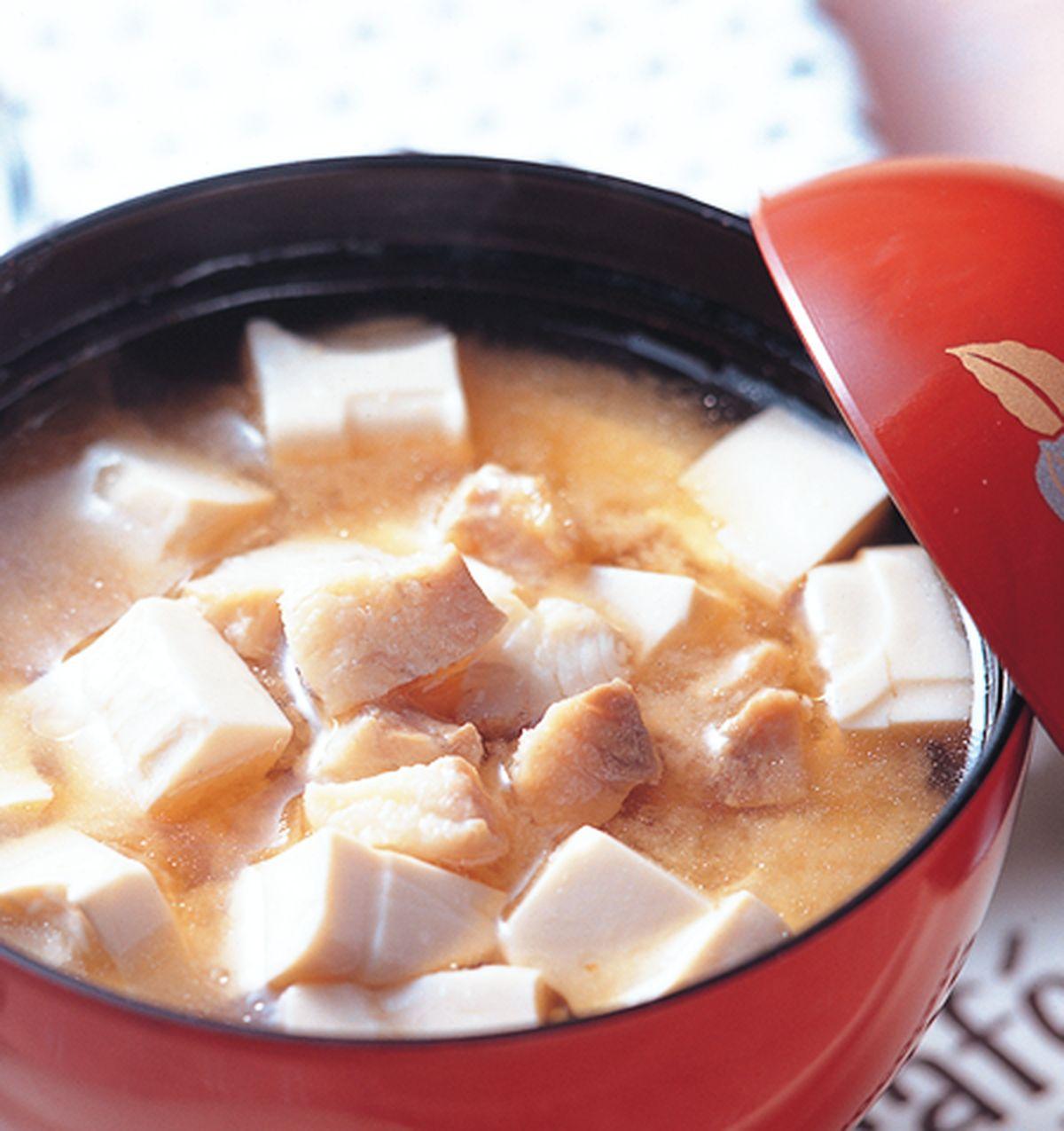 食譜:味噌豆腐魚湯
