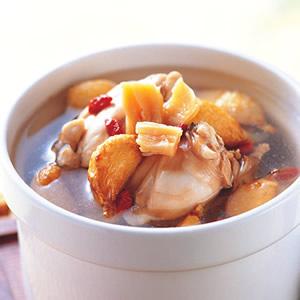 蒜頭干貝田雞湯