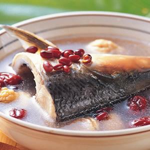 栗子紅豆魚頭湯