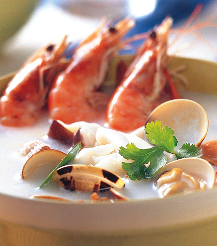 食譜:椰奶海鮮湯