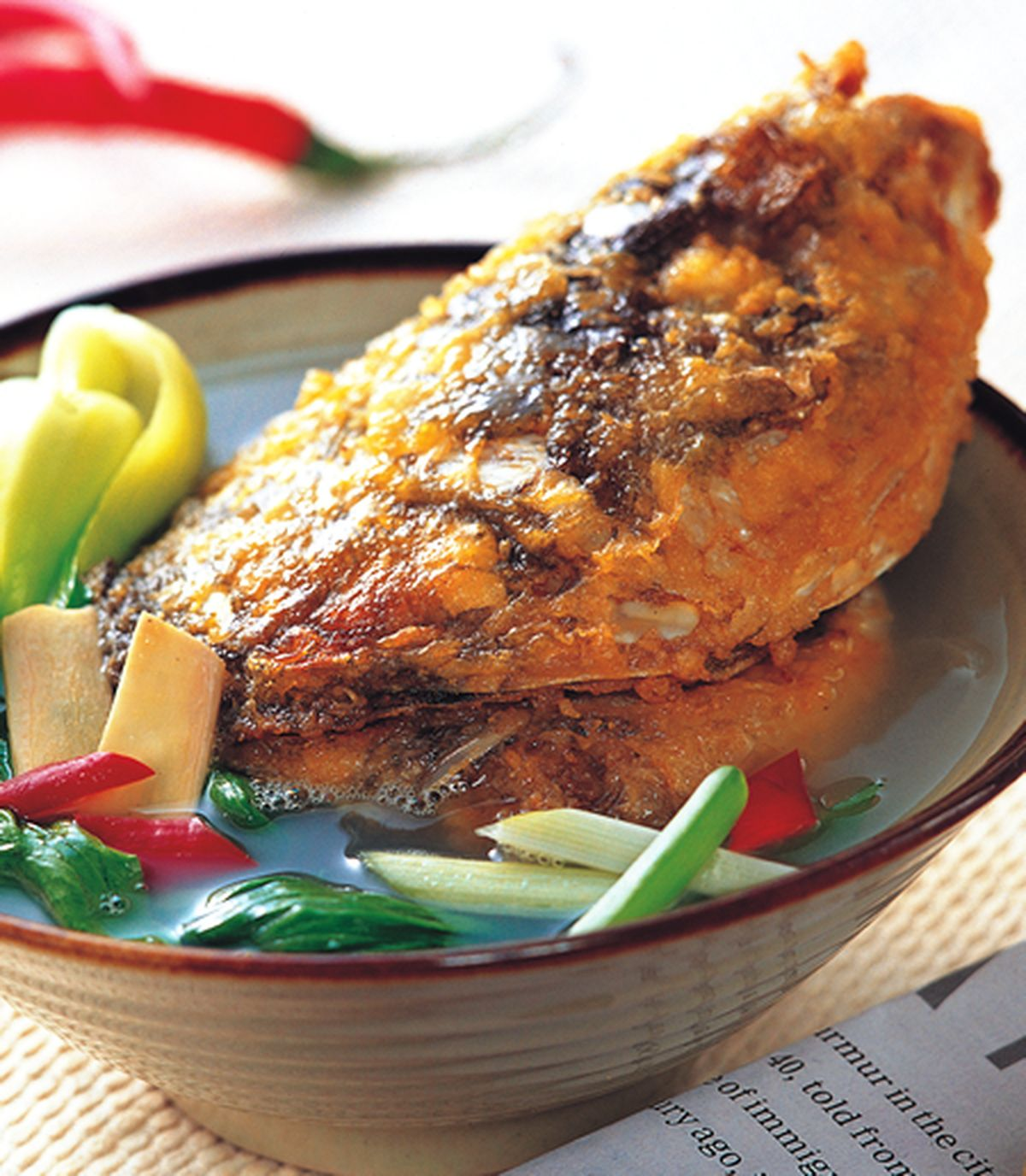 食譜:獅城魚頭米粉