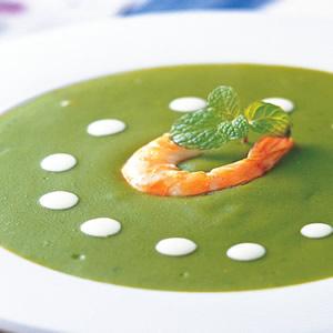 鮮蝦菠菜濃湯
