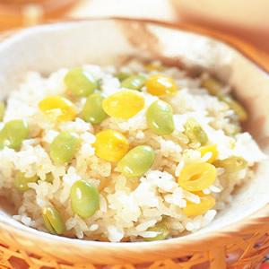 毛豆銀杏飯