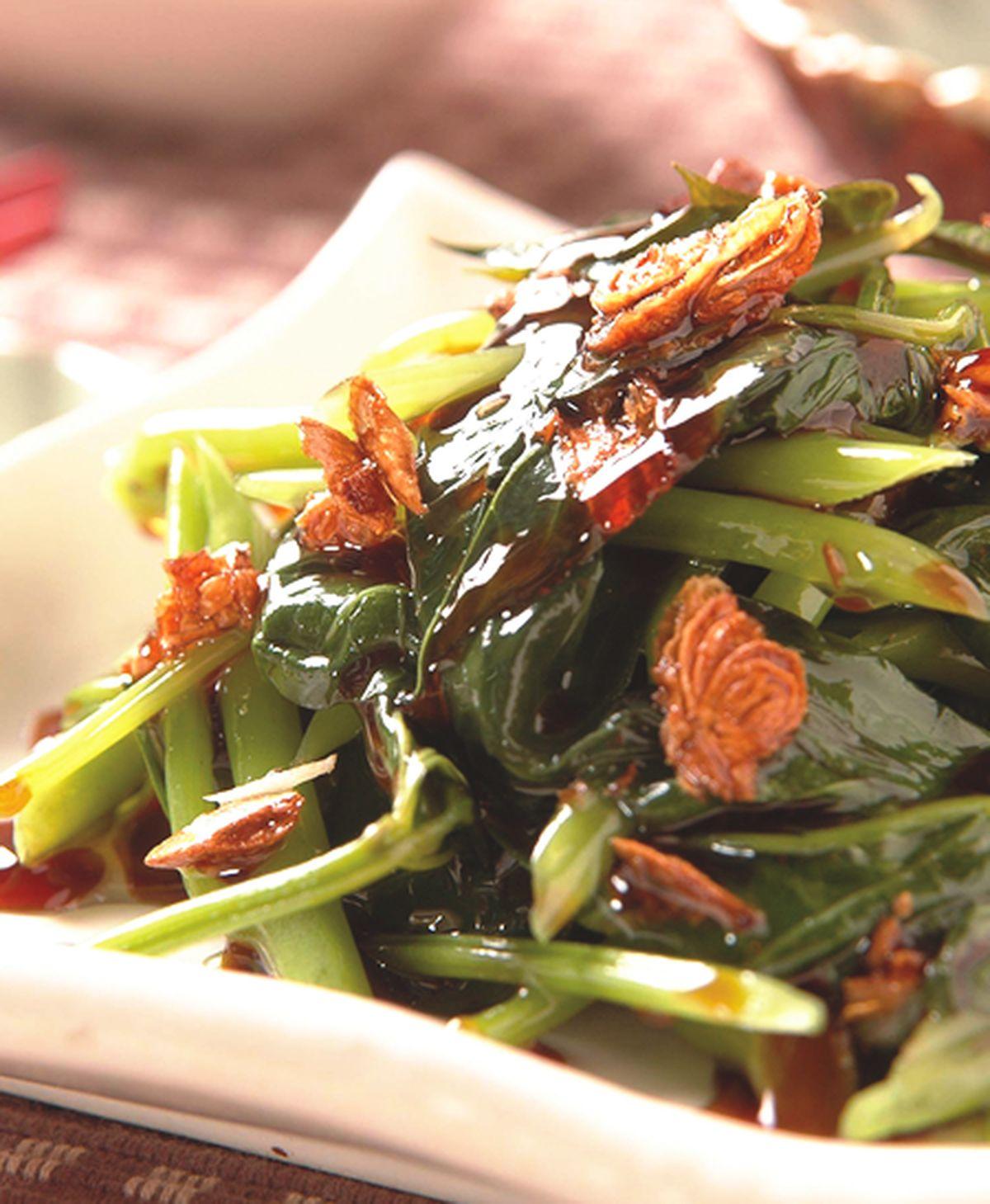 食譜:蔥油拌地瓜葉(1)