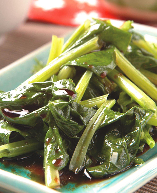 食譜:三合油菠菜