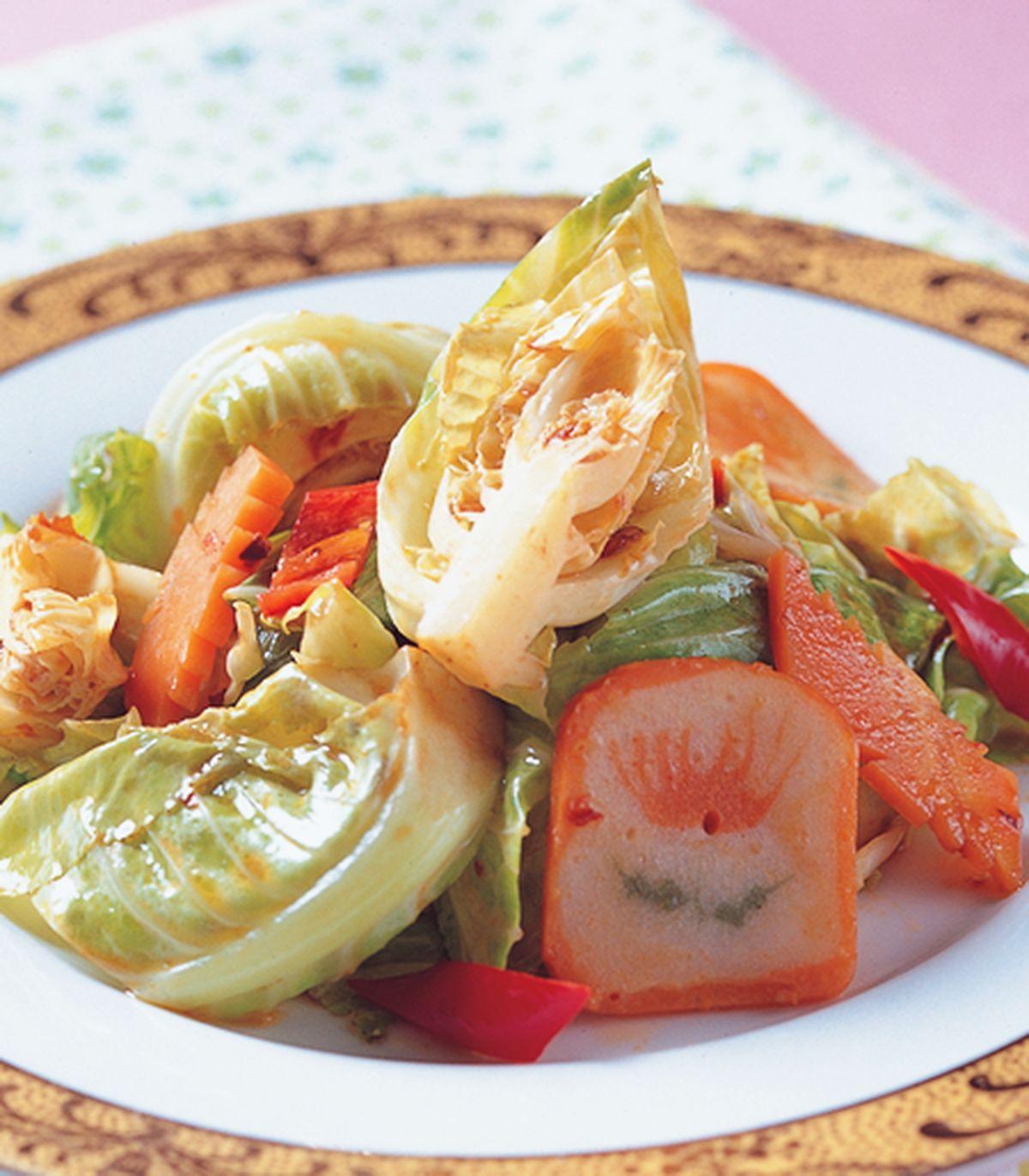 食譜:辣豆瓣炒高麗菜苗