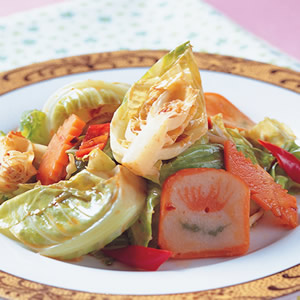 辣豆瓣炒高麗菜苗