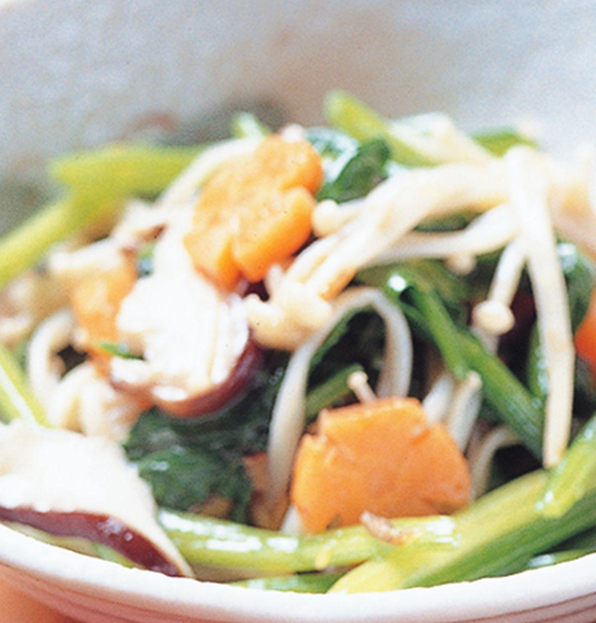 食譜:菠菜炒雙菇