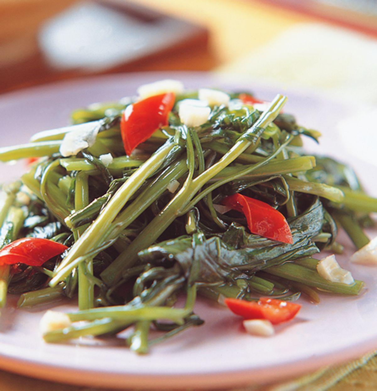 食譜:蝦醬炒空心菜
