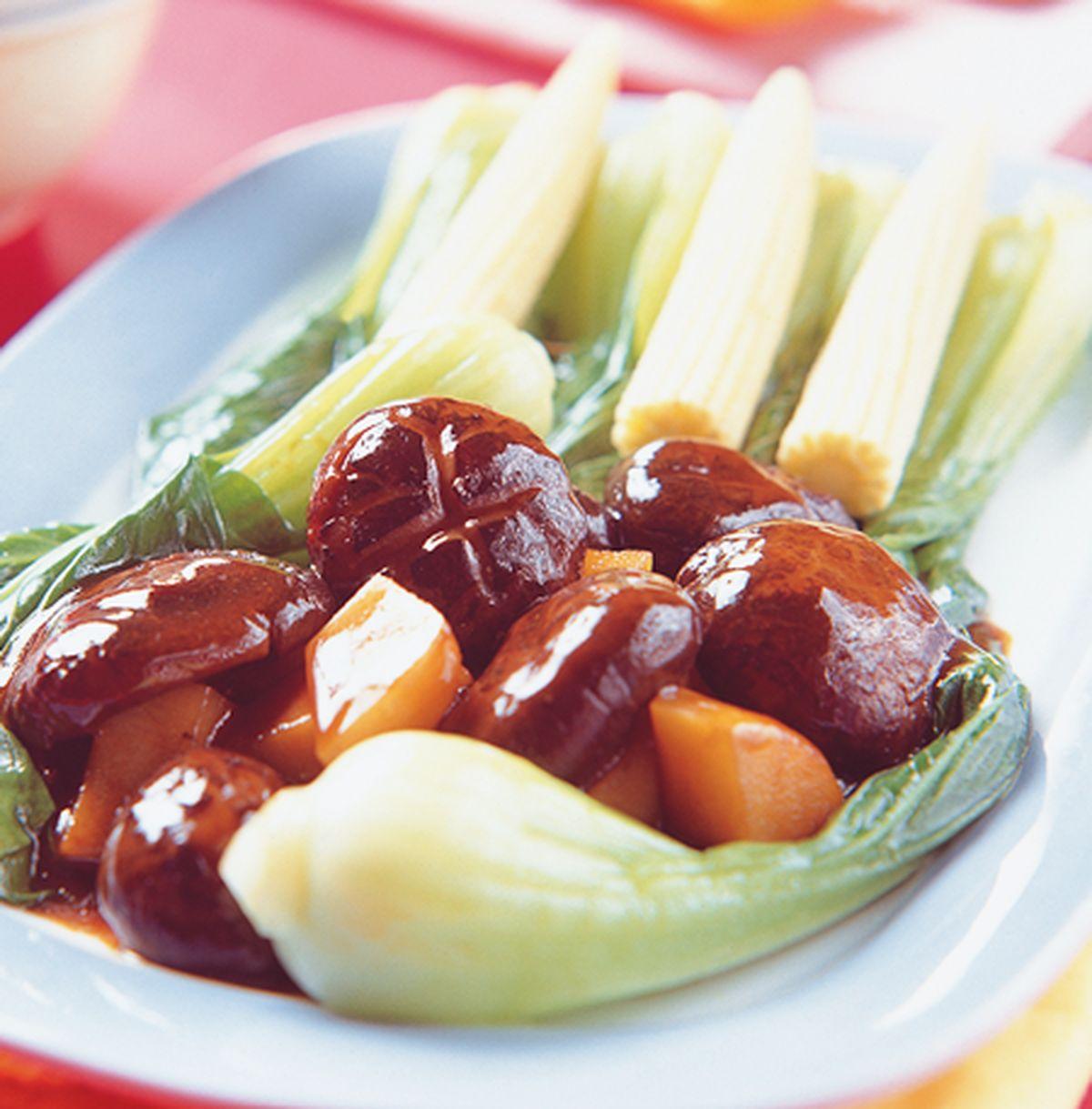 食譜:冬菇扒菜心