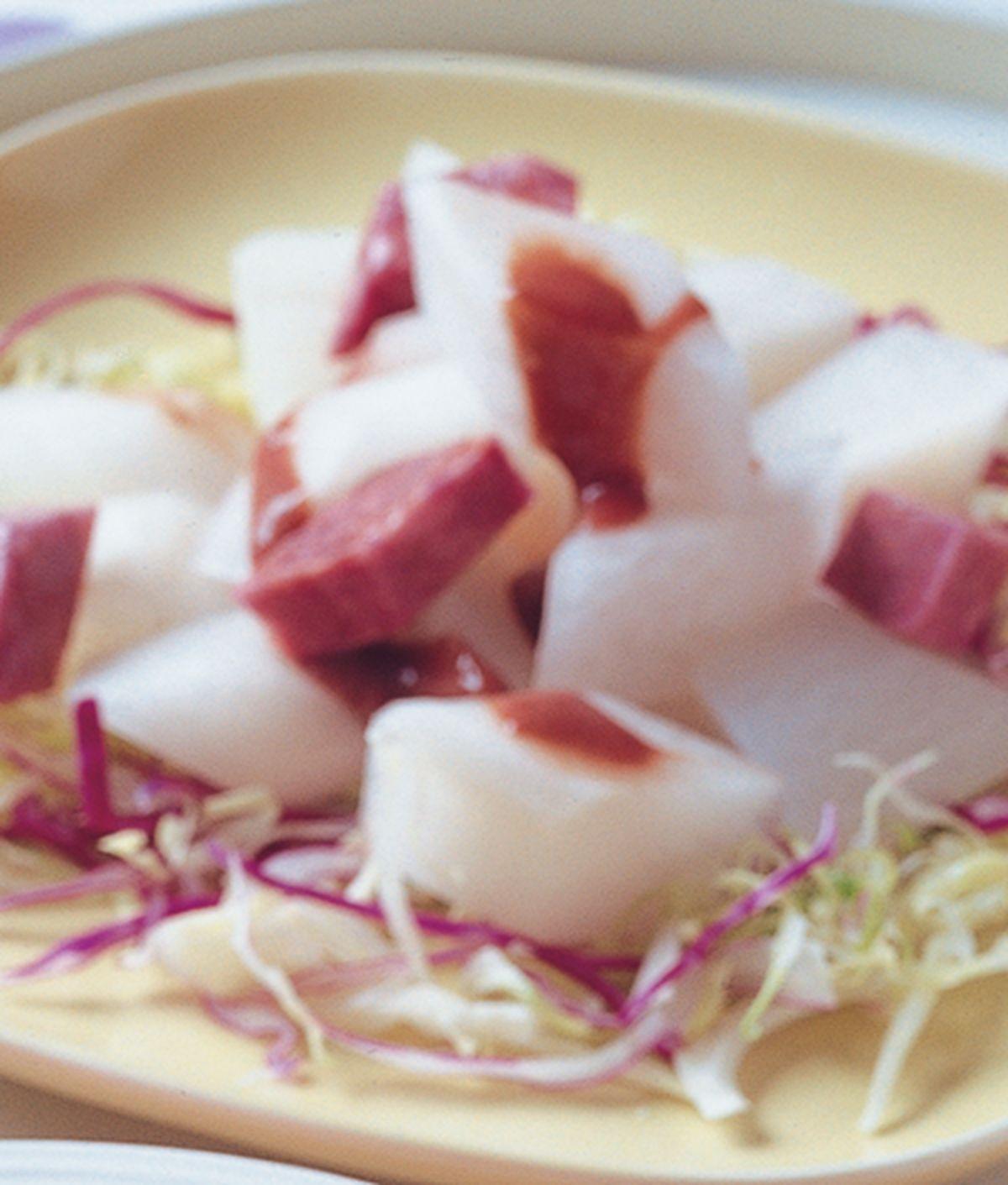 食譜:紫山藥蘿蔔沙拉