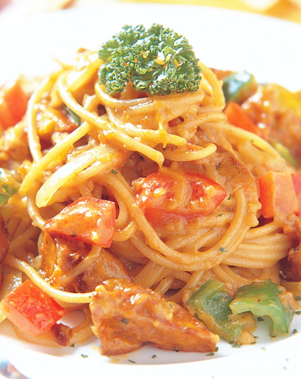 食譜:咖哩南瓜義大利圓麵