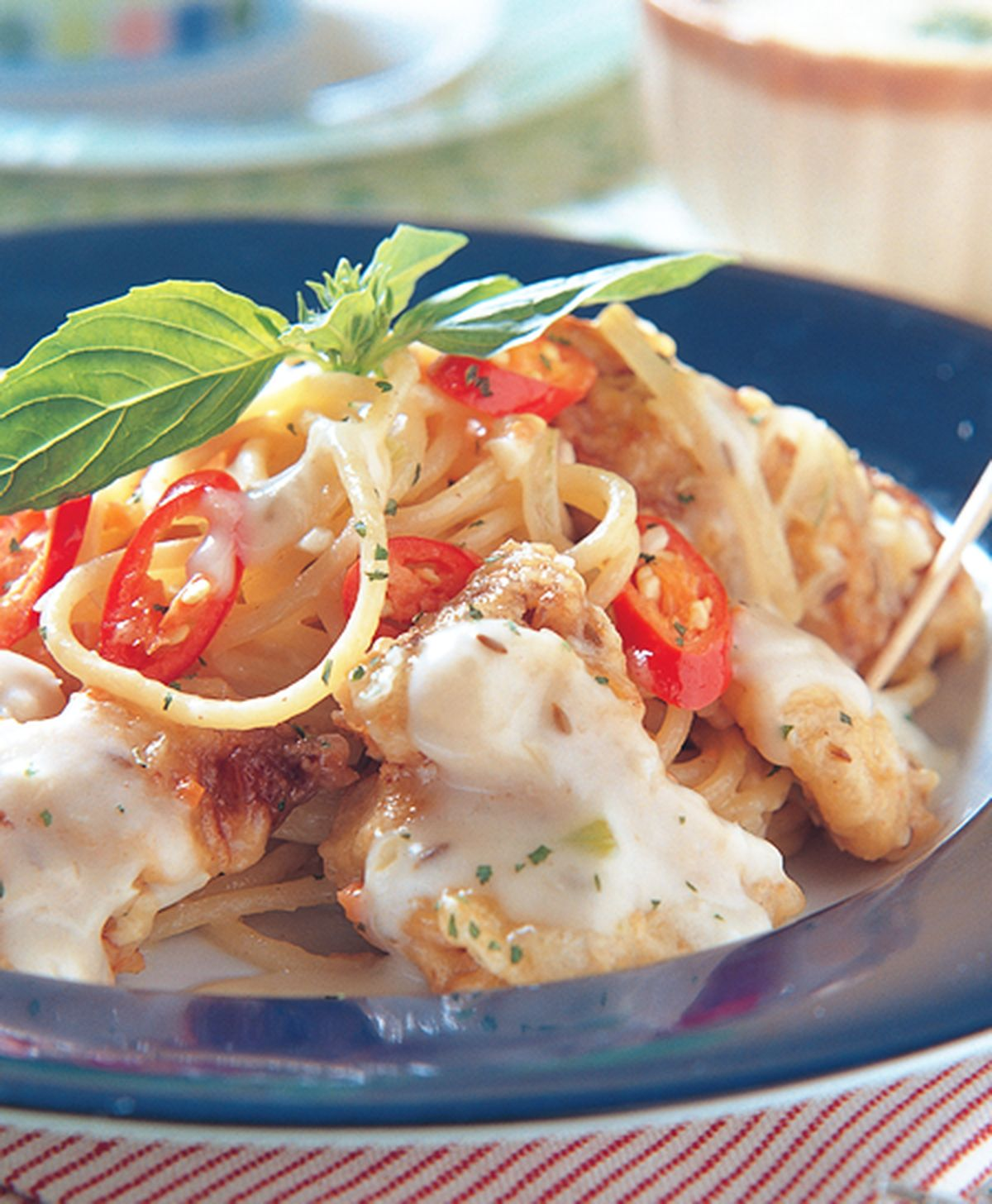 食譜:雞排茴香圓麵